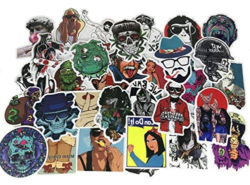 Cool Cool Stickers Waterproof Funny Graffiti For Bumper Luggage Skateboard Helmet Phone