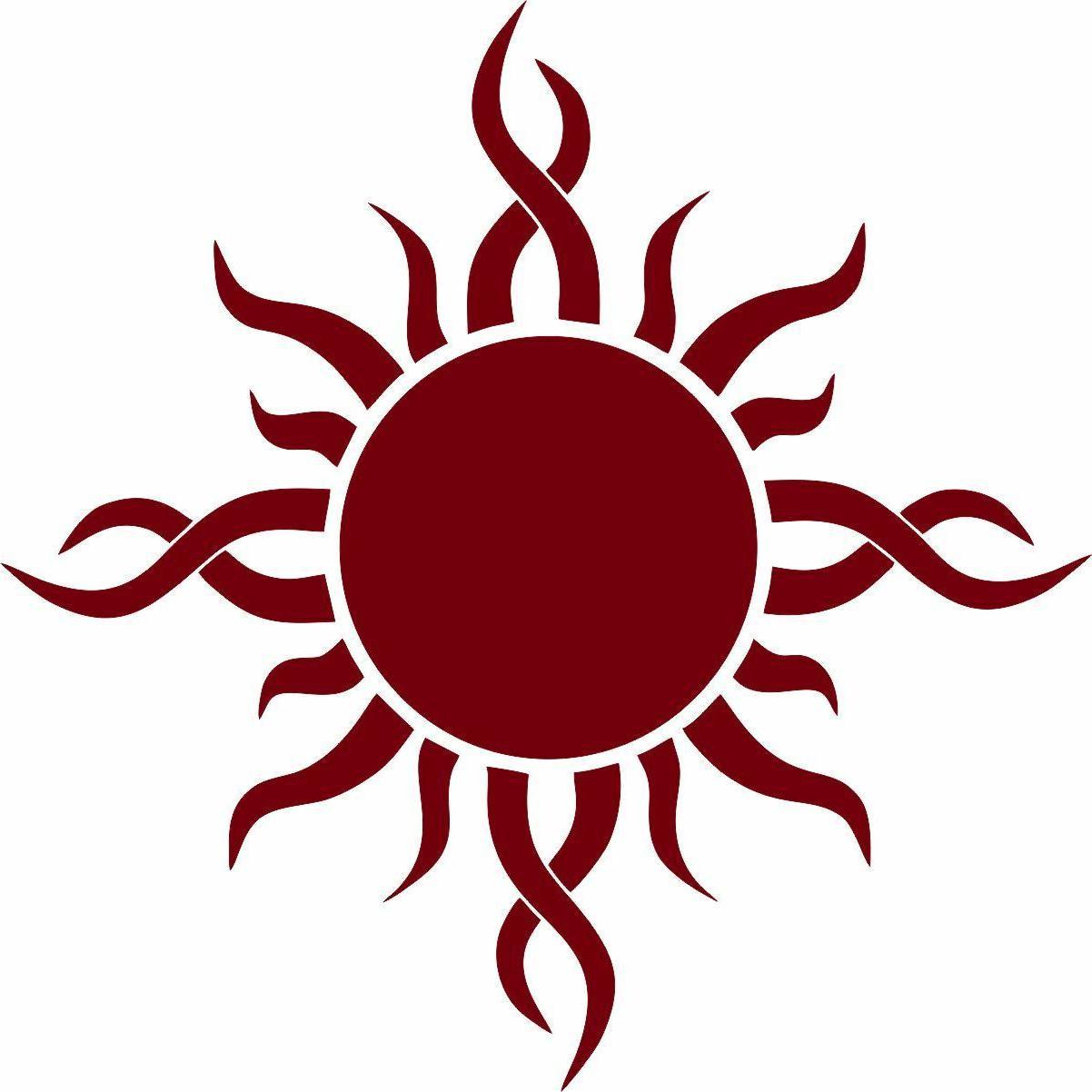 Sun Bumper Tribal Sticker Window Art Laptop SUV Summer