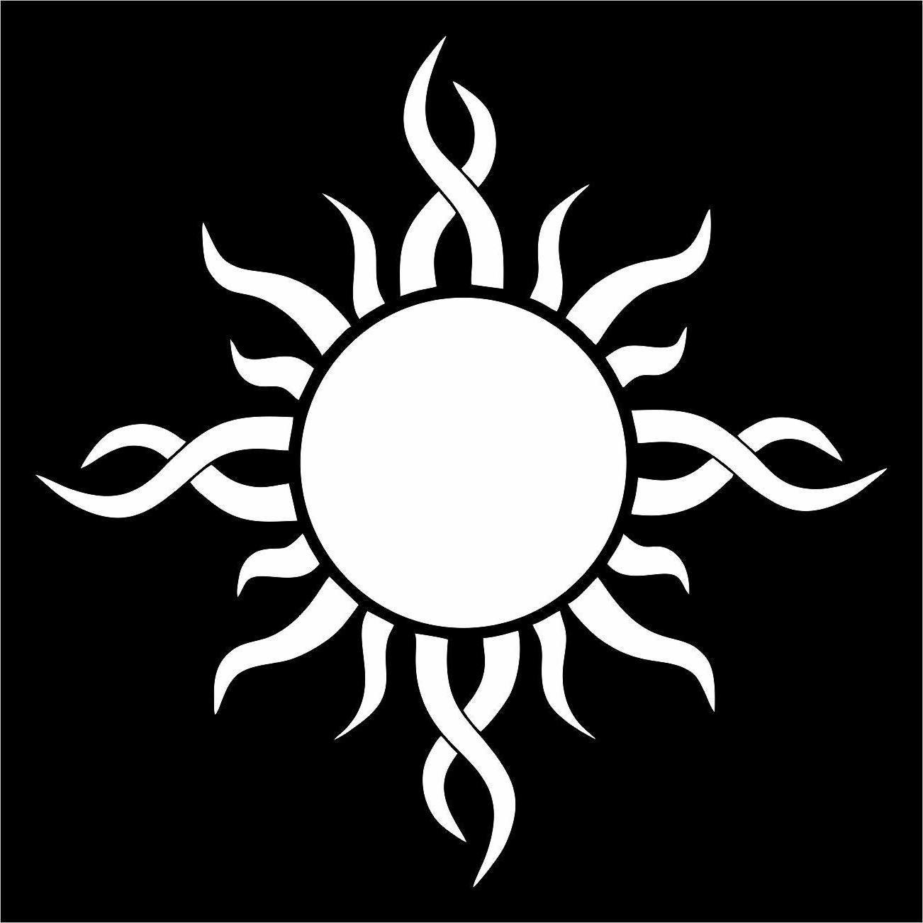 Sun Decal Window Art SUV