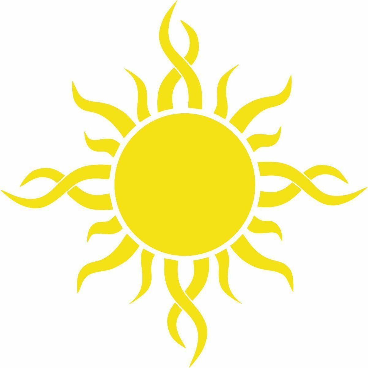 sun vinyl decal car bumper tribal sun