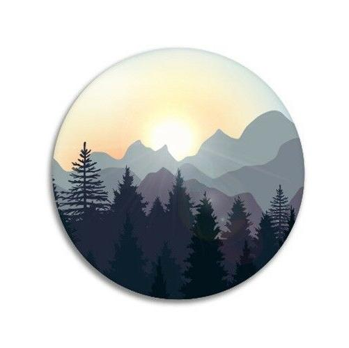sunrise in the mountains forest car laptop