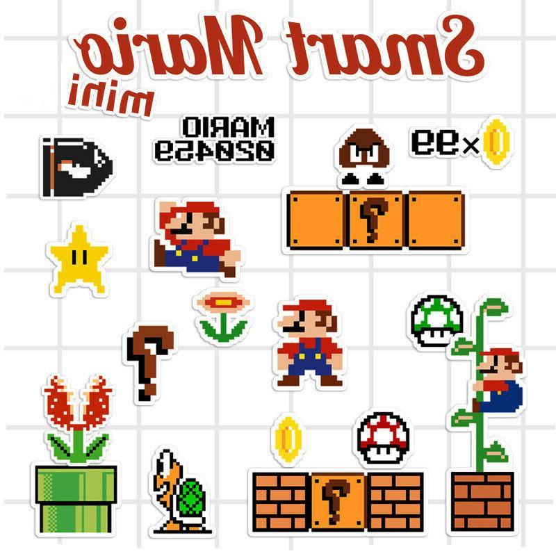 Super Mario Bros Sticker Removable