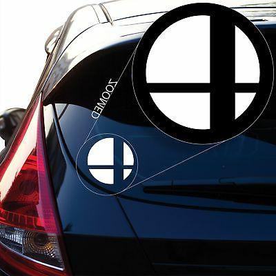 super smash bros decal sticker for car