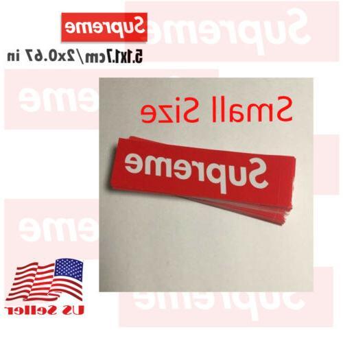 supreme box logo red sticker small size