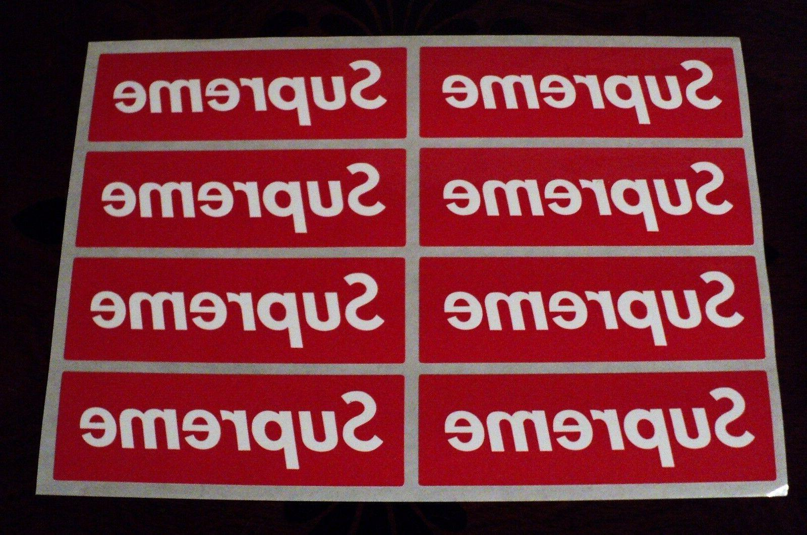 supreme box logo red sticker vinyl decal pack lot set of 8 s