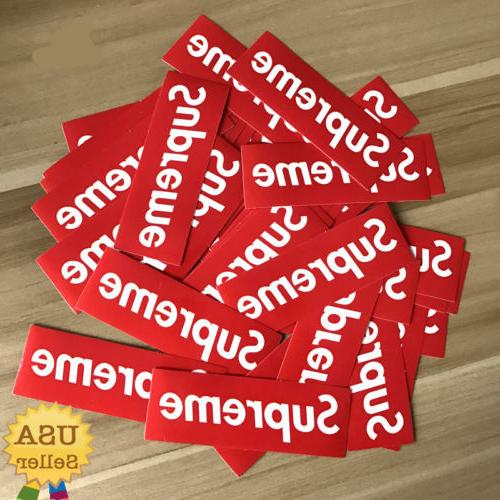 supreme logo red sticker vinyl