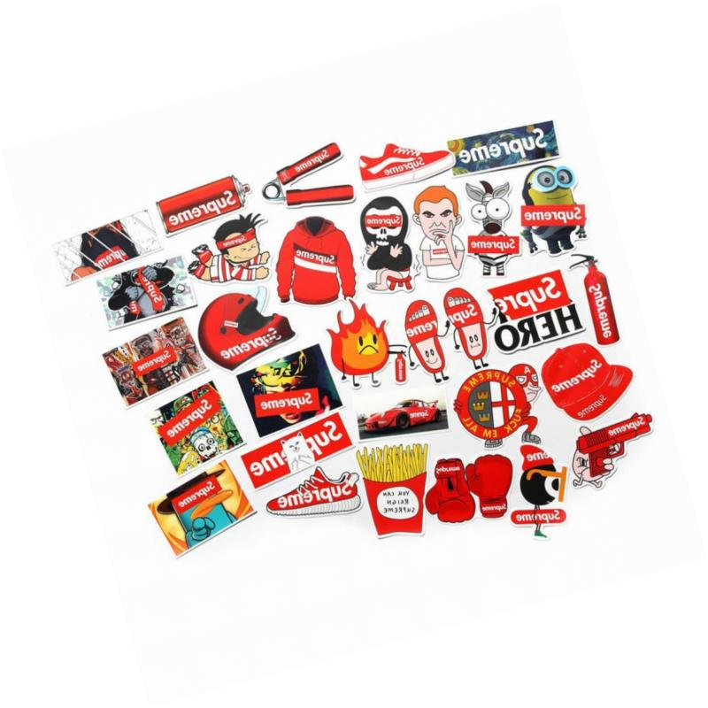 Supreme Stickers Pack FNGEEN Laptop Bomb Motorcycle Bicycle