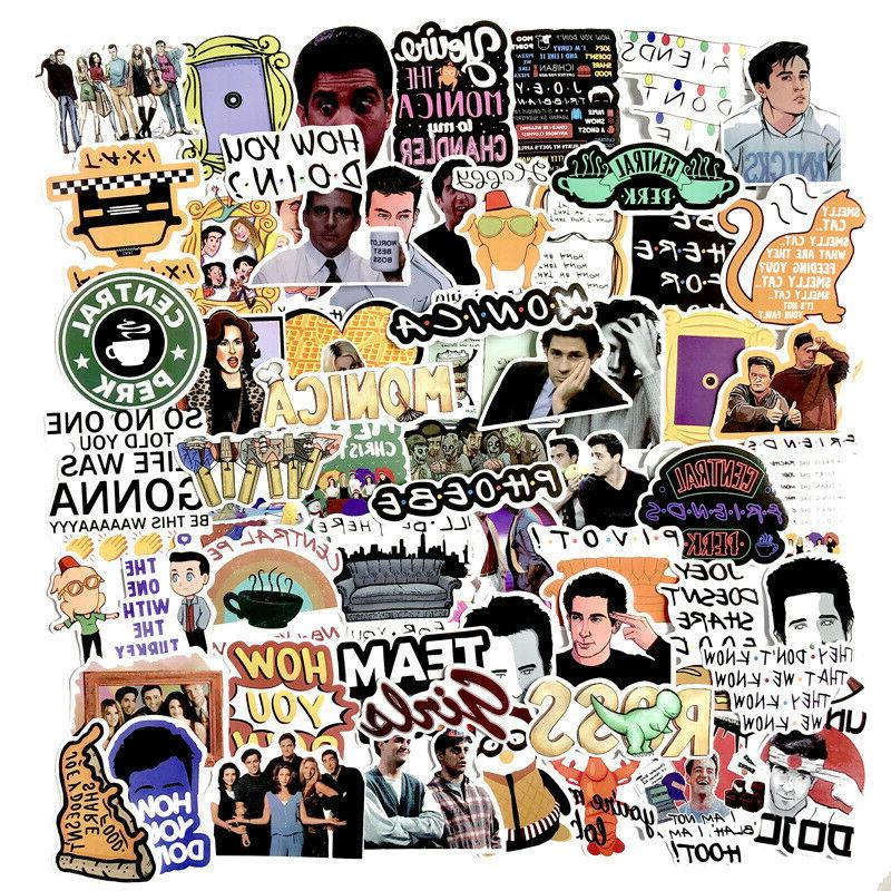 the friends tv show skateboard stickers vinyl