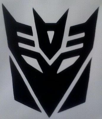 transformers decepticons logo sticker car laptop vinyl