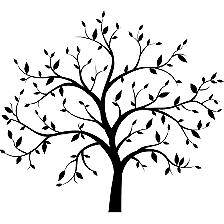 Tree~ Decal Cartoon Vinly Sticker Laptop Car Window Black or