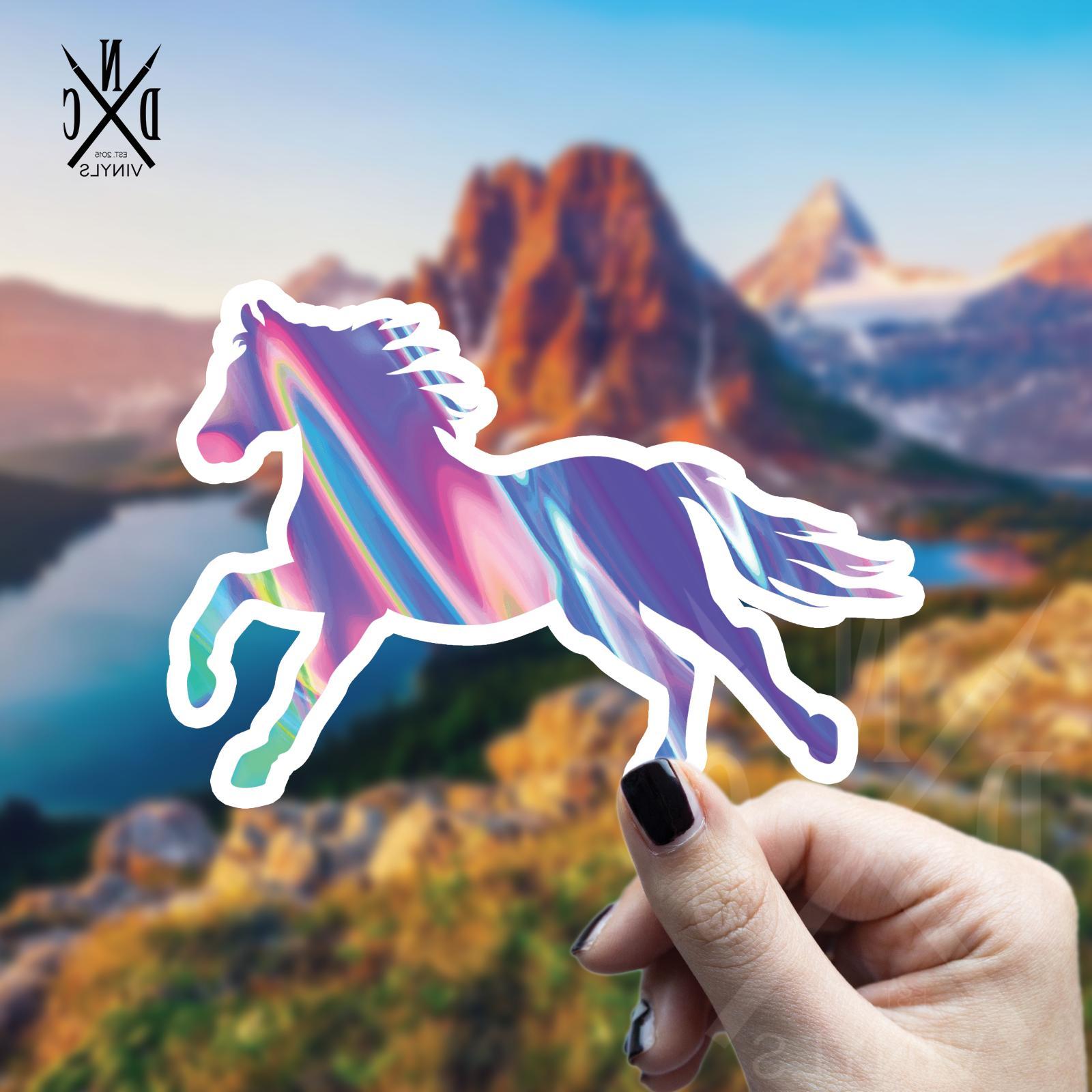 trippy horse vinyl sticker laptop sticker water