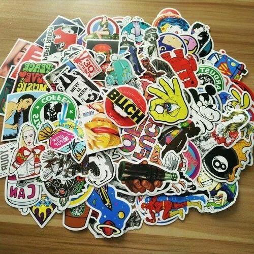 1000 Stickers Bomb Decal Vinyl Car Skateboard Laptop Luggage