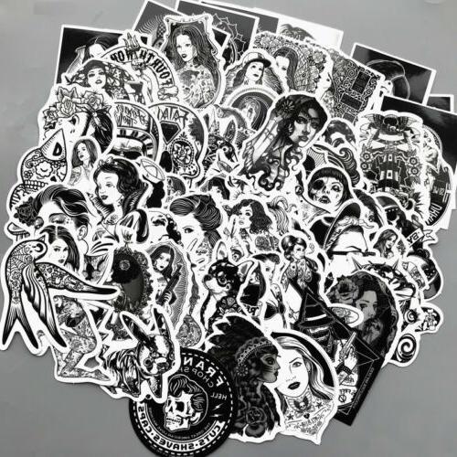 US vinyl stickers black women Laptop bomb