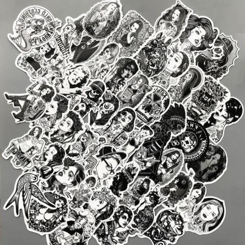 us seller 62 vinyl stickers black white