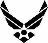 USAF Air Force Military Airman Vinyl Decal Sticker|BLACK|Car