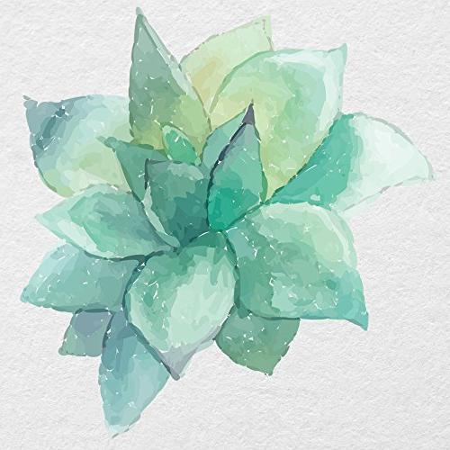 watercolor succulent printed vinyl decal