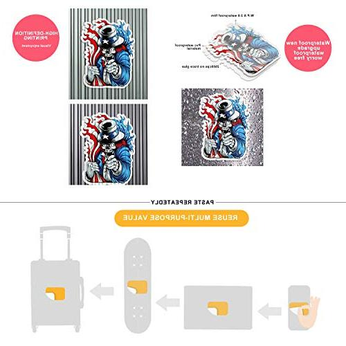 Waterproof Stickers Pack Laptop, Luggage, Car, Motorcycle, Bicycle,