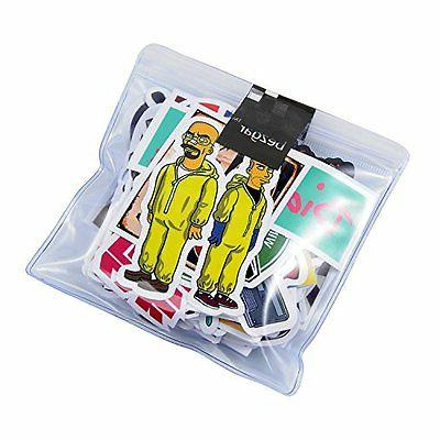 Breezypals 100 Pcs Vinyl Laptop, Car, Skateboard,