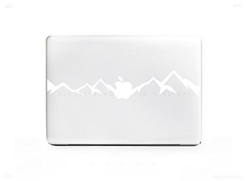 white modern mountains sticker decal
