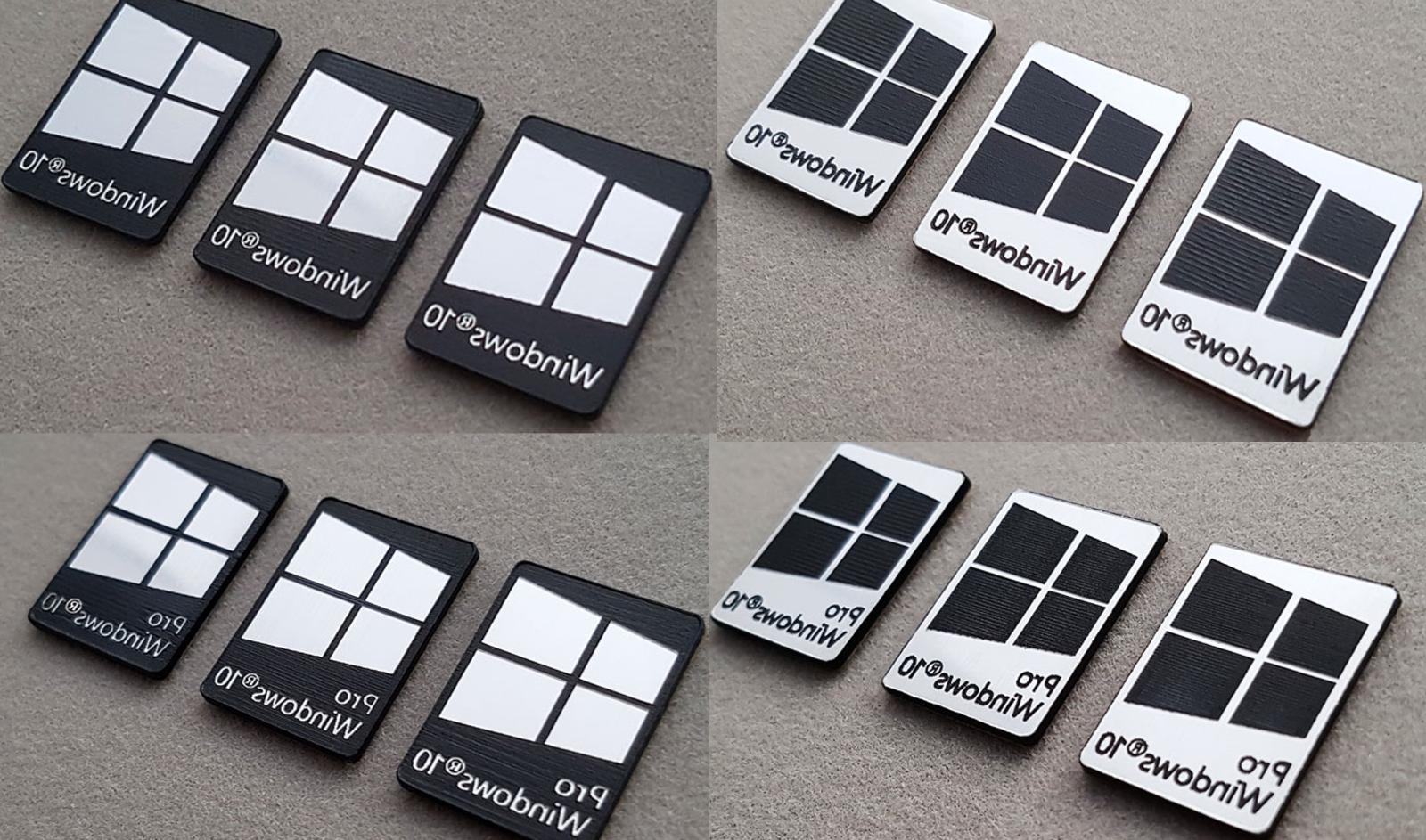Windows 10 & Pro Metal Silver/Gold/Black Sticker Laptop - Colors