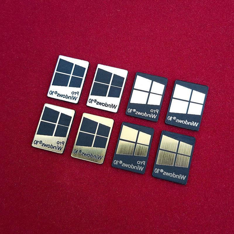 Windows Metal Silver/Gold/Black Sticker 8 Colors