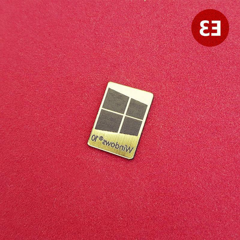 Windows Metal Case Badge - 4