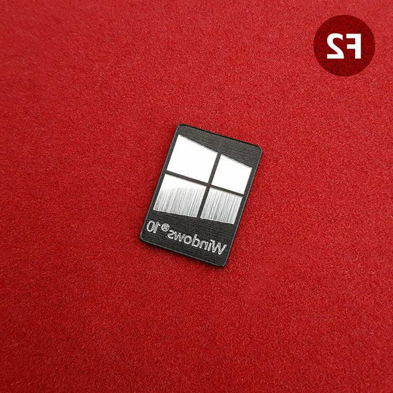 Windows 10 Metal Silver/Gold/Black Case Sticker - Colors