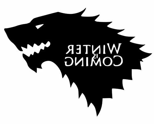 winter coming game thrones decal
