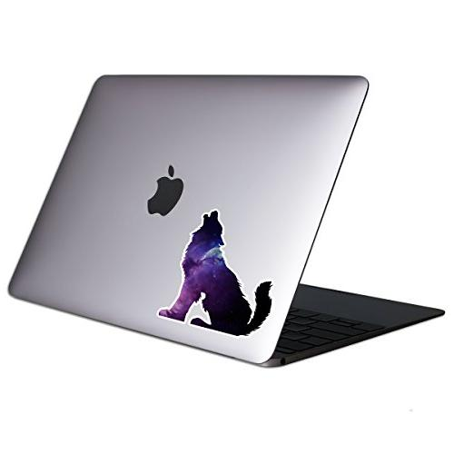 wolf galaxy tablet laptop sticker
