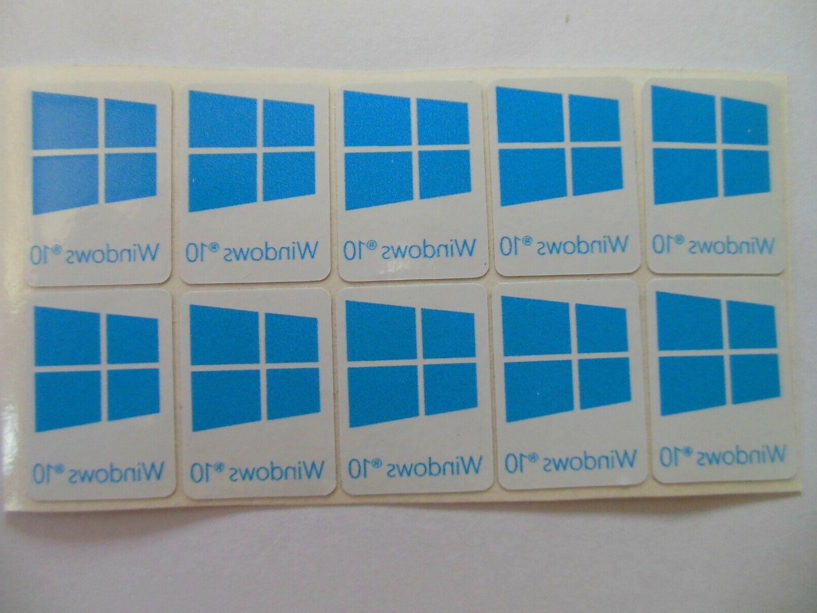 x5 pcs Windows 10 Decal