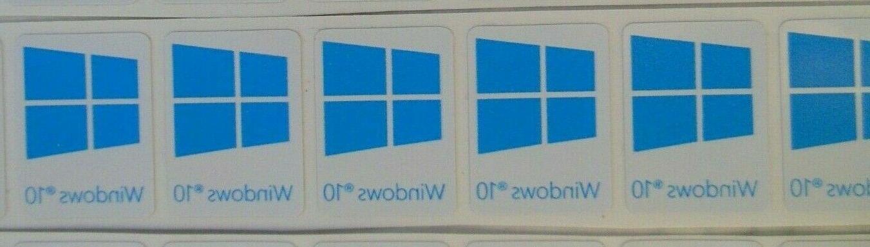 x5 pcs windows 10 sticker badge label