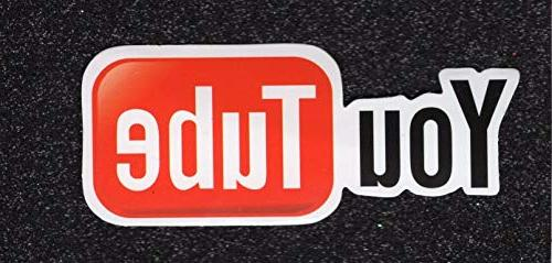 youtube logo vinyl sticker snowboard