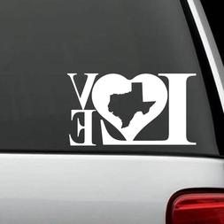 L1028 Texas LOVE Decal Sticker Home Pride Strong Window Mirr