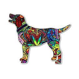 BleuMoo 1Pc Labrador Dog Sticker Vinyl Cup Tumbler Laptop Ca
