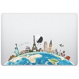Laptop Notebook Computer Sticker Decal - World map - Skins S