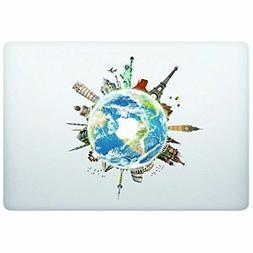 Laptop Notebook Computer Sticker Decal - Globe World map - S