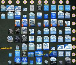 Laptop PC sticker - intel pentium 3 4 D m duo core celeron x