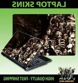 LAPTOP STICKER HORROR COLLAGE SEPIA VILLAINS SPOOK ACCESSORI
