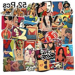 Laptop Stickers 52 Pcs - Removable Vinyl Decal Sticker Skin