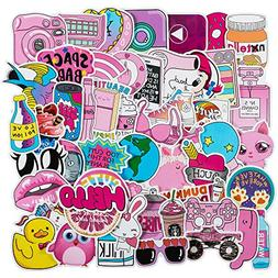 Cute Laptop Stickers for Girls - Pink Cartoon Sticker for Wa
