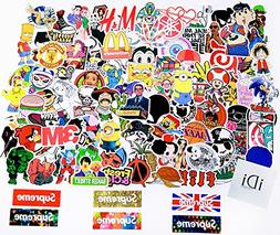 iDi Laptop Stickers 100 pcs Waterproof Vinyl SUPREME Car Sti