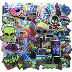 Laser Sticker Pack Alien Stickers Bomb Cool Laptop Mac Car D
