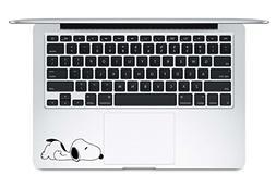 lazy snoopy trackpad keyboard decal