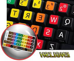 LEARNING LARGE LETTERING  ENGLISH US COLORED KEYBOARD STICKE