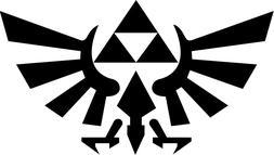 Legend of Zelda Hyrule Crest TriForce VINYL DECAL Sticker Ca