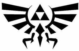 Legend of Zelda Hyrule Crest Vinyl Decal - TriForce Laptop W
