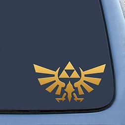 "Legend of Zelda - Triforce Wings - Vinyl 4"" Wide  decal lapt"