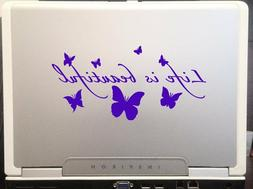 Life Is Beautiful Butterflies Silhouette car SUV laptop deca