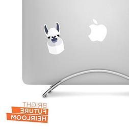 "Llama - 3"" high printed vinyl decal - For MacBook, car, lapt"