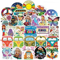 Lot 100 Hippie Vinyl Laptop Skateboard Stickers Bomb Luggage